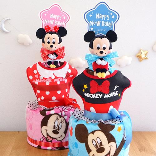 ミッキー&ミニータオルおむつケーキ