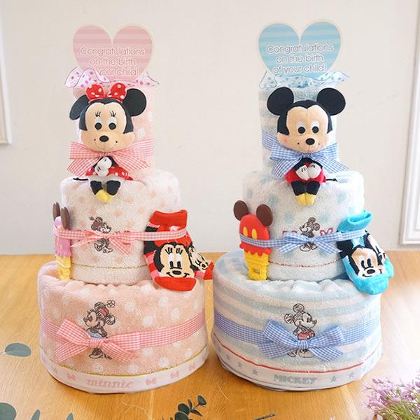 淡いパステルカラーがかわいいディズニーベビーおむつケーキ