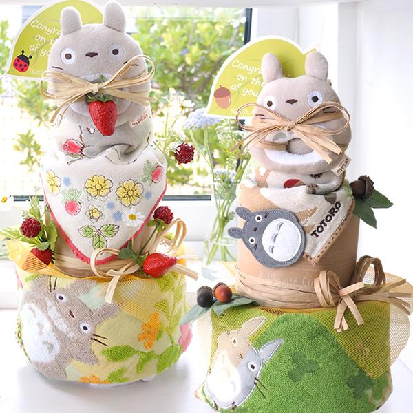 トトロがいっぱいのおむつケーキ☆