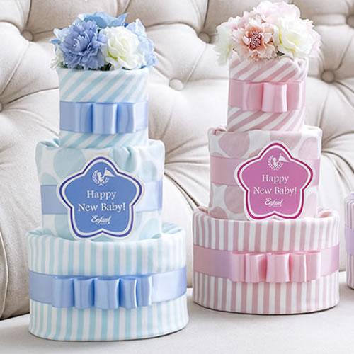 【出産祝い】ベルビー アンファン シェリ ダイパーケイク1 おむつケーキ