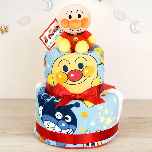 アンパンマンタオルおむつケーキ