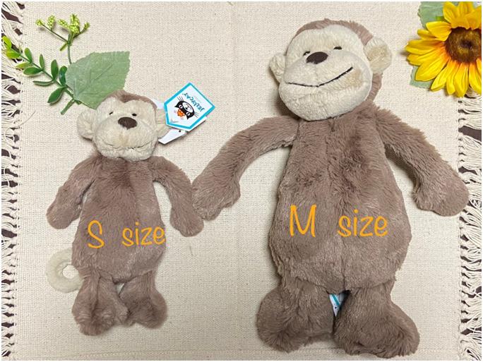 Sサイズは全長20センチ、Mサイズは全長30センチ