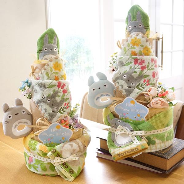 春バージョンのトトロのおむつケーキ