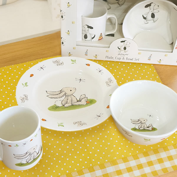 【出産祝い ベビー食器】ジェリーキャットベビー食器セット