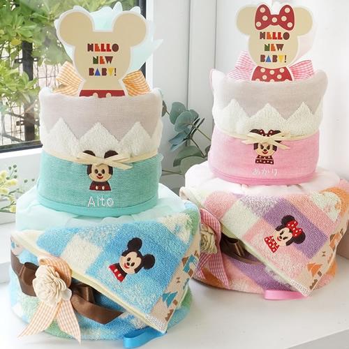 【おむつケーキ】ディズニー KIDEA タオルおむつケーキ