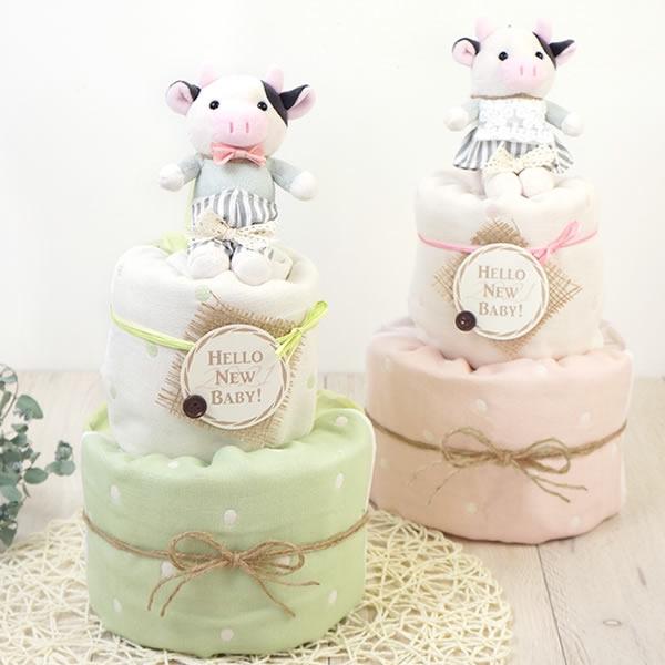 2021限定おむつケーキ!Happy Cow Year Diaper Cake