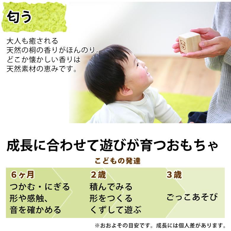 はじめてのつみ木 キリコロ(お名前入り、桐箱付)