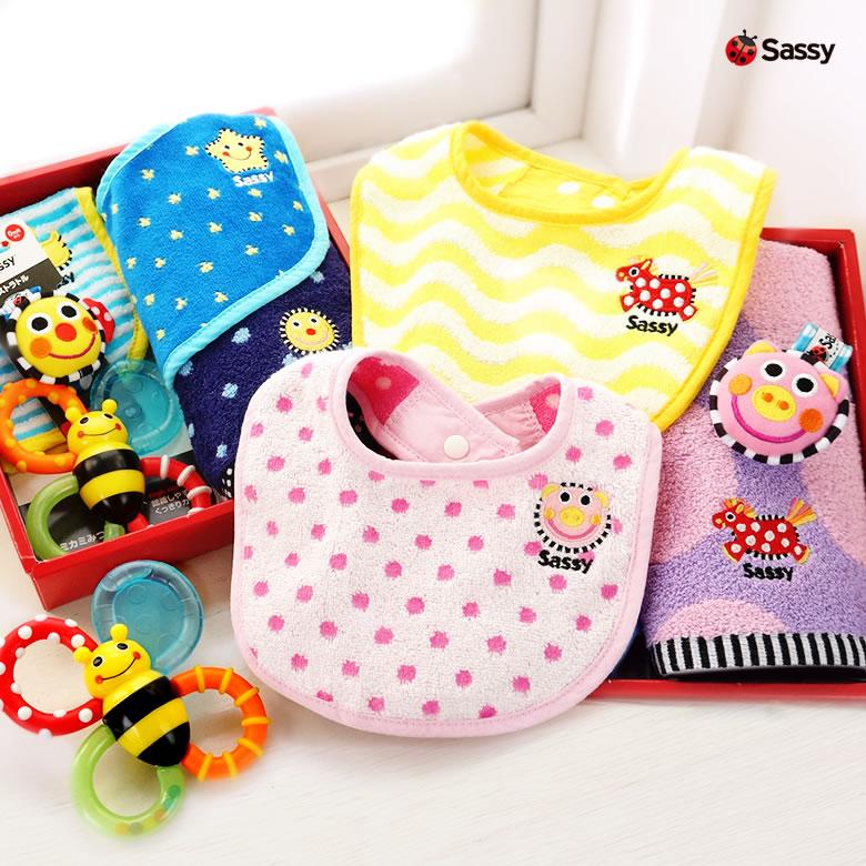ベビー人気ブランドSassyの便利な出産祝いギフトセット