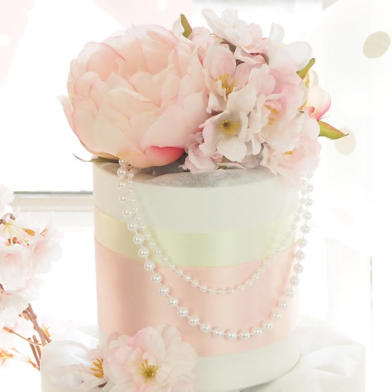 【おむつケーキ】Diaper cake Gracieux ダイパーケーキ グレイス 桜ダイパーケーキ