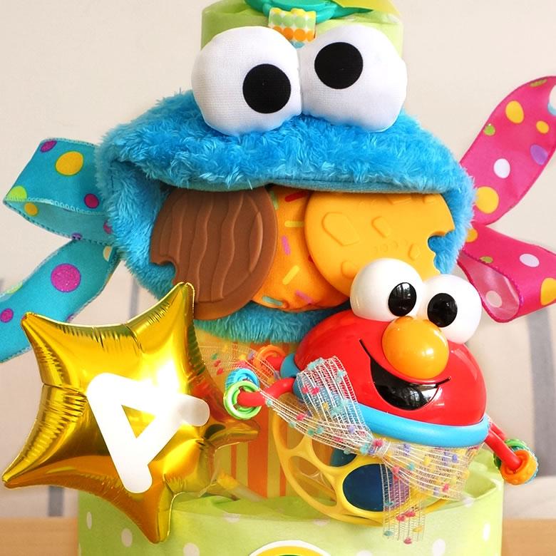 楽しいおもちゃのPOPなおむつケーキ