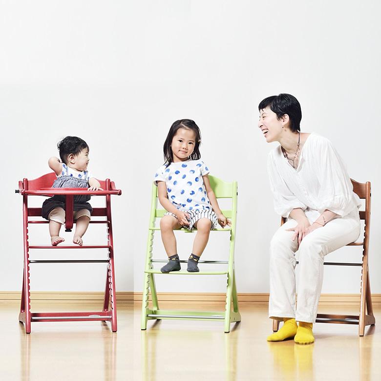 座板の高さ調整は6段階!赤ちゃんから大人まで使える◎