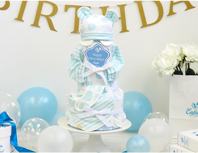 王道の3点セットDiaper Cake 3