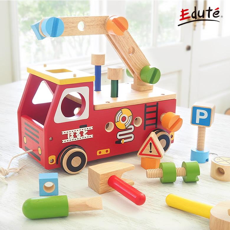 【名入れ 知育玩具】アクティブ消防車  2歳 3歳  I'm TOY アイムトイ